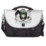 Escudo de la familia de O'Lavery Bolsas Para Portatil