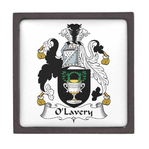 Escudo de la familia de O'Lavery Cajas De Joyas De Calidad