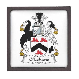 Escudo de la familia de O'Lehane Caja De Regalo De Calidad