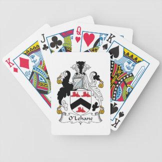 Escudo de la familia de O'Lehane Baraja Cartas De Poker