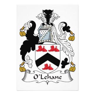 Escudo de la familia de O'Lehane Invitacion Personalizada