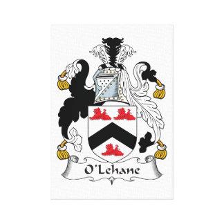 Escudo de la familia de O'Lehane Lienzo Envuelto Para Galerías