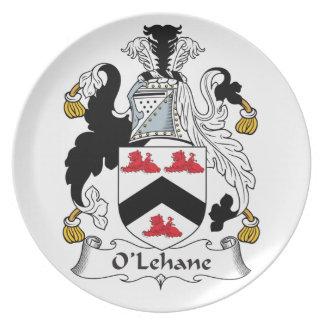 Escudo de la familia de O'Lehane Plato