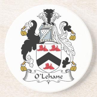 Escudo de la familia de O'Lehane Posavasos Para Bebidas