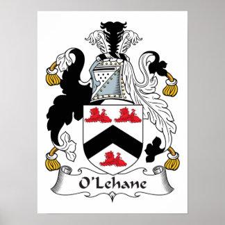 Escudo de la familia de O'Lehane Posters