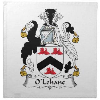 Escudo de la familia de O'Lehane Servilletas De Papel