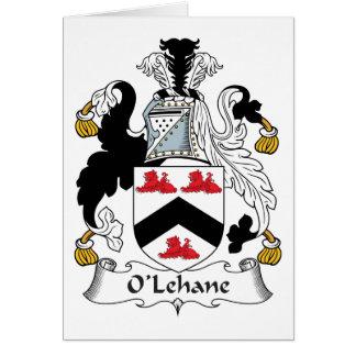 Escudo de la familia de O'Lehane Tarjeta