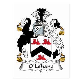 Escudo de la familia de O'Lehane Tarjeta Postal
