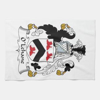 Escudo de la familia de O'Lehane Toalla De Cocina