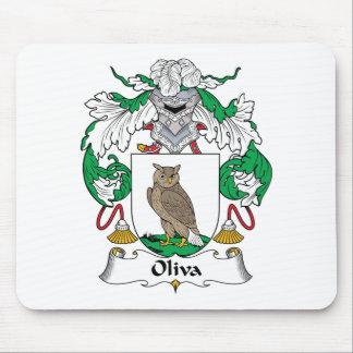 Escudo de la familia de Oliva Alfombrillas De Ratón