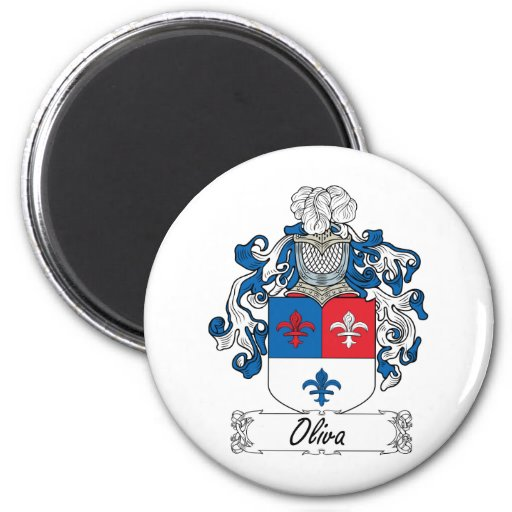 Escudo de la familia de Oliva Imán De Frigorífico