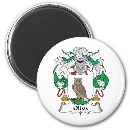 Escudo de la familia de Oliva Imán Redondo 5 Cm