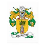 Escudo de la familia de Olivares Postal