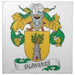 Escudo de la familia de Olivares Servilletas Imprimidas