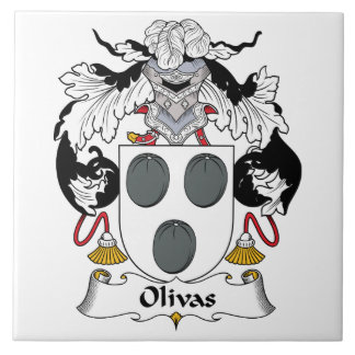 Escudo de la familia de Olivas Azulejo Cuadrado Grande