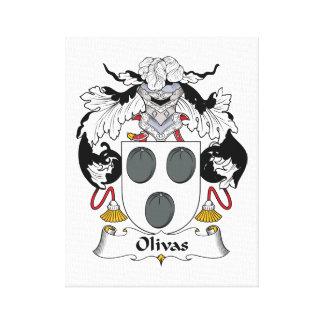 Escudo de la familia de Olivas Lona Estirada Galerías