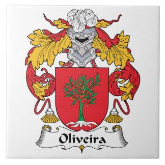 Escudo de la familia de Oliveira Azulejo Ceramica