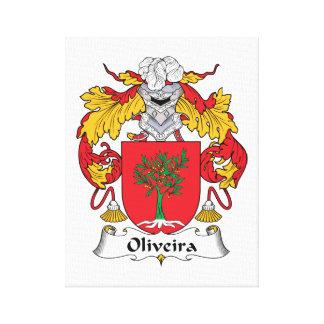 Escudo de la familia de Oliveira Lona Envuelta Para Galerias
