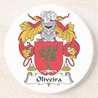 Escudo de la familia de Oliveira Posavasos Personalizados