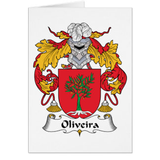 Escudo de la familia de Oliveira Tarjetas