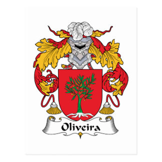 Escudo de la familia de Oliveira Tarjeta Postal
