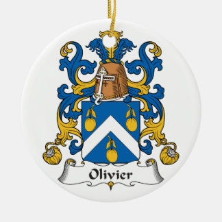 Escudo de la familia de Olivier Adorno Redondo De Cerámica