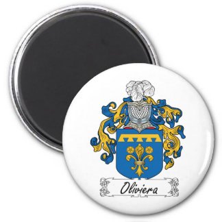 Escudo de la familia de Oliviera Imán Redondo 5 Cm