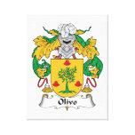 Escudo de la familia de Olivo Impresión En Lienzo Estirada