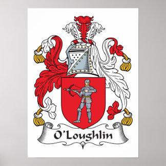 Escudo de la familia de O'Loughlin Impresiones