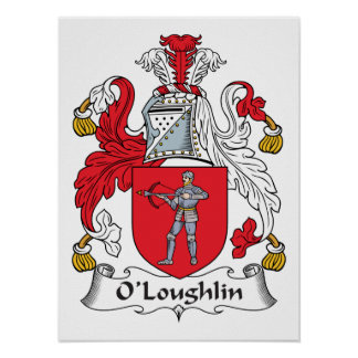 Escudo de la familia de O'Loughlin Póster