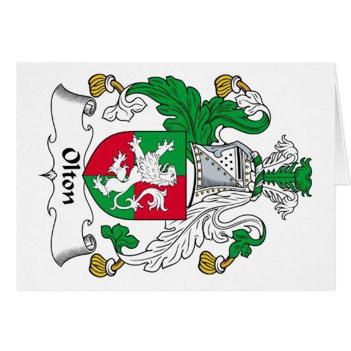 Escudo de la familia de Olton Felicitación