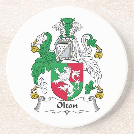 Escudo de la familia de Olton Posavasos Personalizados