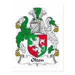 Escudo de la familia de Olton Postales