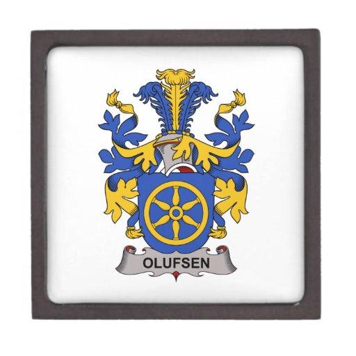Escudo de la familia de Olufsen Caja De Joyas De Calidad