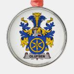 Escudo de la familia de Olufsen Ornamento De Navidad