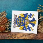 Escudo de la familia de Olufsen Placas De Madera