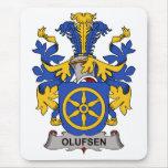 Escudo de la familia de Olufsen Alfombrillas De Ratones