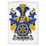 Escudo de la familia de Olufsen Tarjeton