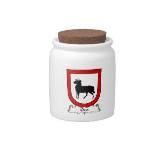 Escudo de la familia de OM Jarras Para Caramelos