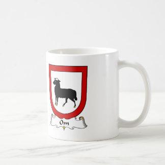 Escudo de la familia de OM Taza De Café