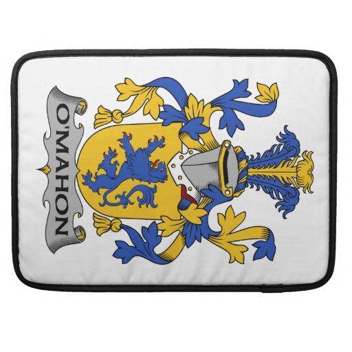Escudo de la familia de O'Mahon Funda Macbook Pro