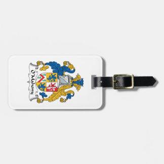 Escudo de la familia de O'Mahony Etiquetas Para Maletas