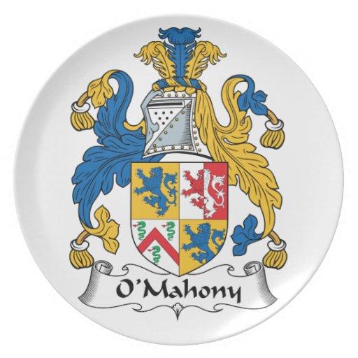 Escudo de la familia de O'Mahony Platos