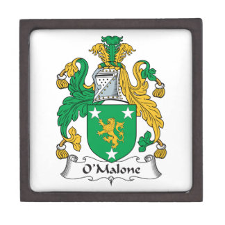 Escudo de la familia de O'Malone Cajas De Joyas De Calidad