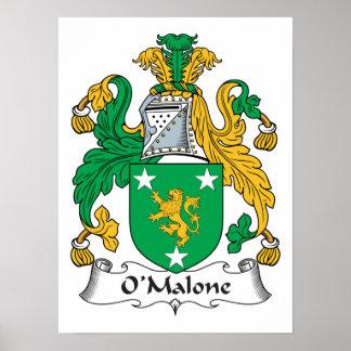 Escudo de la familia de O'Malone Impresiones