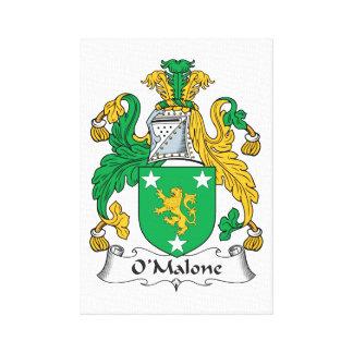 Escudo de la familia de O'Malone Lona Estirada Galerías