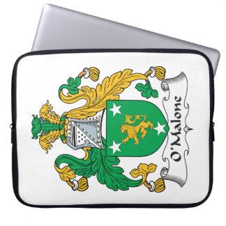 Escudo de la familia de O'Malone Mangas Portátiles