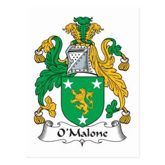 Escudo de la familia de O'Malone Postal