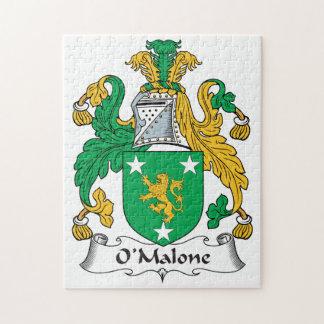 Escudo de la familia de O'Malone Rompecabeza