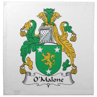 Escudo de la familia de O'Malone Servilleta De Papel
